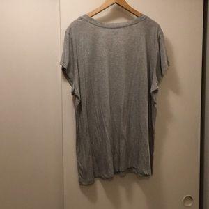 Joe Boxer Tops - Gray v-neck Shirt